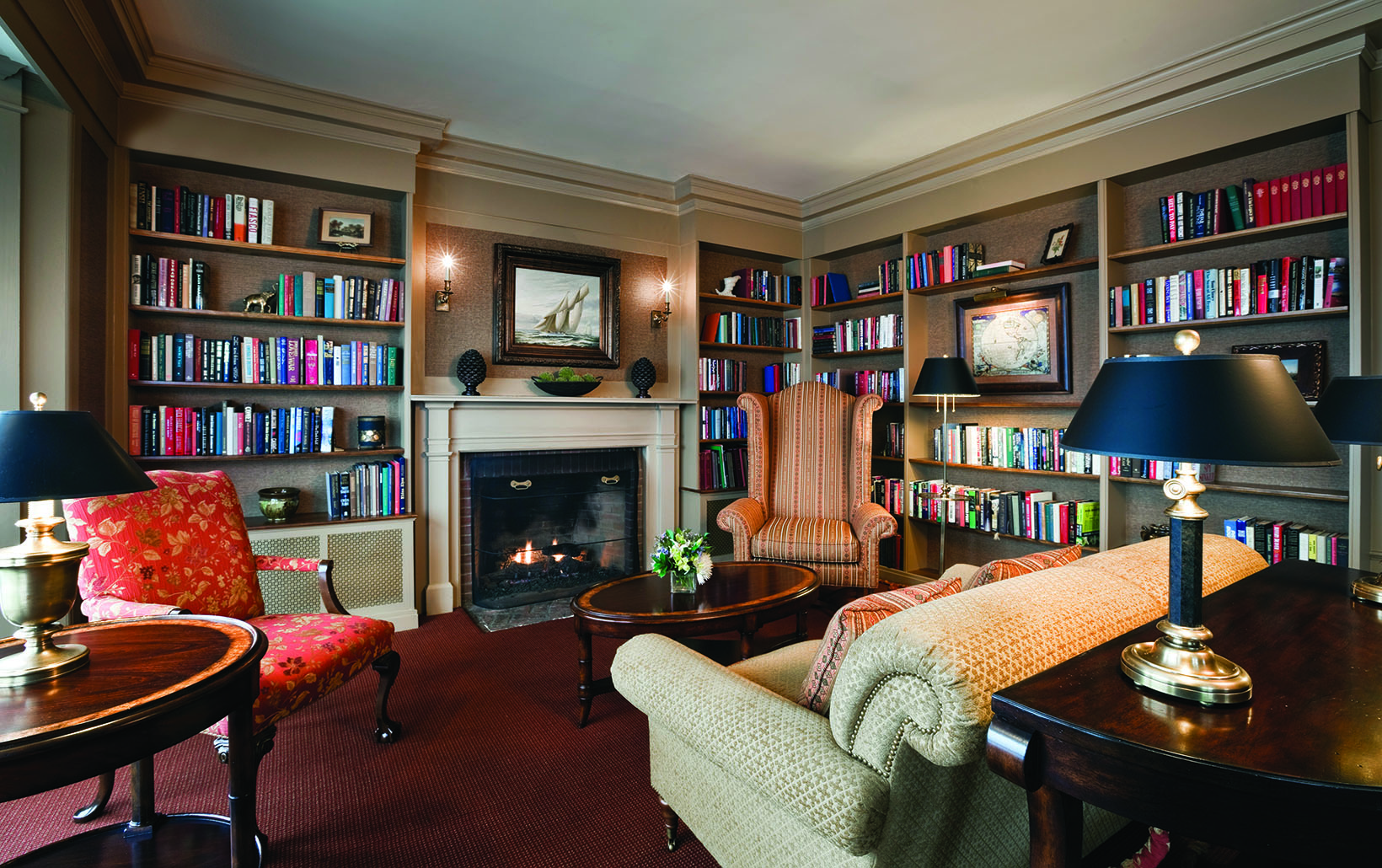 The historic library at the Mountain View Grand Resort