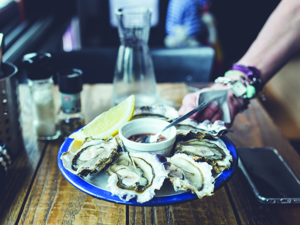 The Oyster Club is a haven for locals on summer nights.